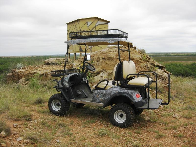 Nathan's Blog: Electric Cart Demo - Food Plot Checkup on bus deer stand, wheelchair deer stand, golf cart deer lift,
